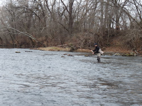 Brian Wise is seen here fishing a section of the Niangua River.