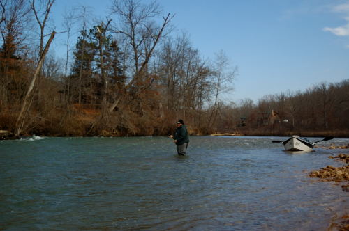 Matt Tucker is seen here nymphing a run on the North Fork of the White River.